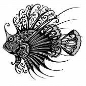 Vector Abstract Sea Fish