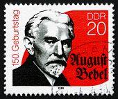 Postage Stamp Gdr 1990 August Bebel, Marxist Politician