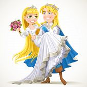 Wedding Of Prince Charming And Fairytale Princess