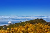 LA PALMA, CANARY ISLANDS, SPAIN - JULY 12, 2012:ORM observatory at Roque de los Muchachos high angle