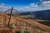 Border between Israel and Syria in Golan Heights