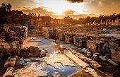 stock photo of ancient civilization  - Ancient city of Beit She - JPG