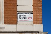 Covent Garden Sign in London
