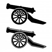 foto of cannon  - vector ancient cannon symbol - JPG