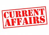 image of current affairs  - CURRENT AFFAIRS red Rubber Stamp over a white background - JPG
