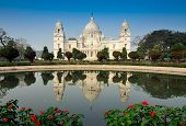 stock photo of reign  - Victoria Memorial - JPG