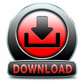 download music, video movie or data downloading pdf document file button or icon