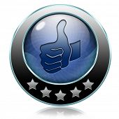Thumb up icon or button