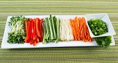Fresh Vegetable Ingredients For Sushi