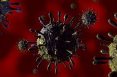 illustration of h1n1 virus in high details