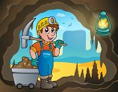 Mine theme image 4 - eps10 vector illustration.