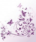 Floral violet border