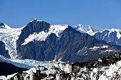 Contrast between rock and snow
