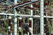 image of substation  - Image of a power substation in germany - JPG