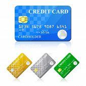 Credit Card Set. Vector illustration