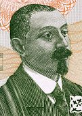GEORGIA - CIRCA 2002: Zakaria Paliashvili (1871-1933) on 2 Lari 2002 Banknote from Georgia. Georgian