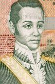 HAITI - CIRCA 2004: Nicolas Geffrard (1762-1806) on 25 Gourdes 2004 Banknote from Haiti. Haitian military.