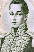 COLOMBIA - CIRCA 1980: Jose Maria Gordova (1799-1829) on 5 Pesos Oro 1980 Banknote from Colombia. Ge