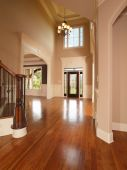 pic of model home  - Luxury model home grand arched entrance way - JPG