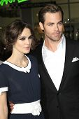 LOS ANGELES - JAN 15: Kiera Knightly, Chris Pine at the premiere of Paramount Pictures' 'Jack Ryan: