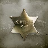 Sheriff star, old style vector