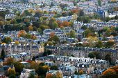 Aerial view of Edinburgh, Scotland, Europe