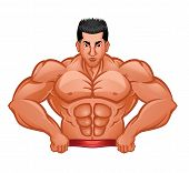 Body Builder Symbol vector illustration