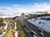 The M62 Motorway in winter