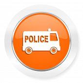 police orange computer icon