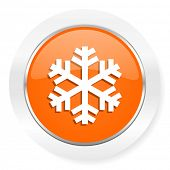 snow orange computer icon