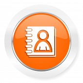 address book orange computer icon