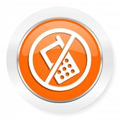 no phone orange computer icon