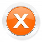 cancel orange computer icon