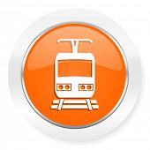 train orange computer icon