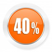 40 percent orange computer icon