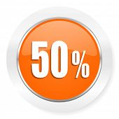 50 percent orange computer icon