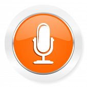 microphone orange computer icon