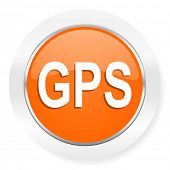 gps orange computer icon