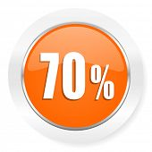 70 percent orange computer icon