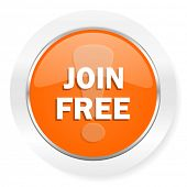 join free orange computer icon
