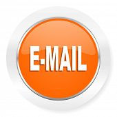 email orange computer icon