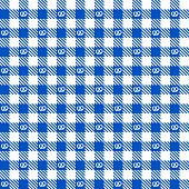 Blue Checkered Pattern With Pretzel - Endlessly