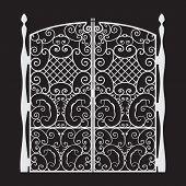 Beautiful Iron Gate Silhouette