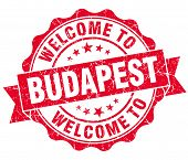 Welcome To Budapest Red Vintage Isolated Seal