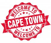 Welcome To Cape Town Red Vintage Isolated Seal