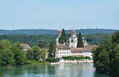 Rheinau Abbey across Rhine river, Switzerland