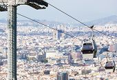 beautiful new cableway against Barcelona