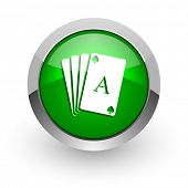card green glossy web icon
