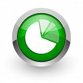 diagram green glossy web icon