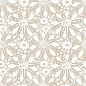 White Flower Seamless Lacy Background.